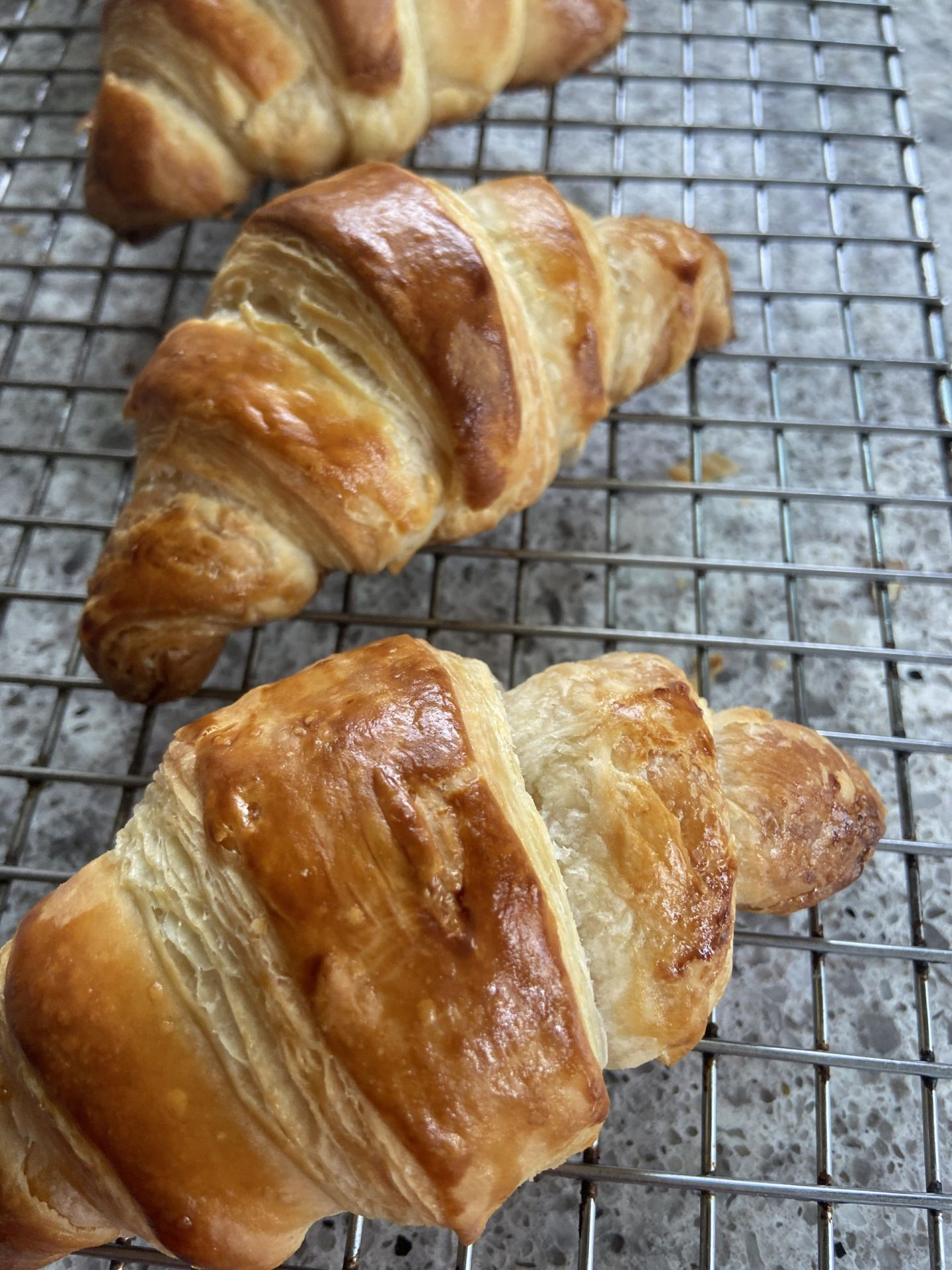 finished batch of croissants eatbaketravel.com