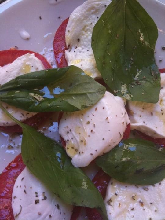 Colors of Italy in food