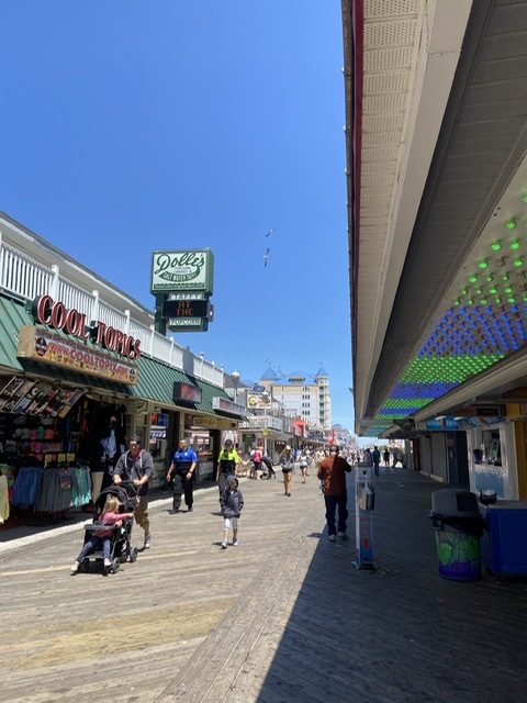 The Ocean City boardwalk. EatbaketravelNEWNEW.com
