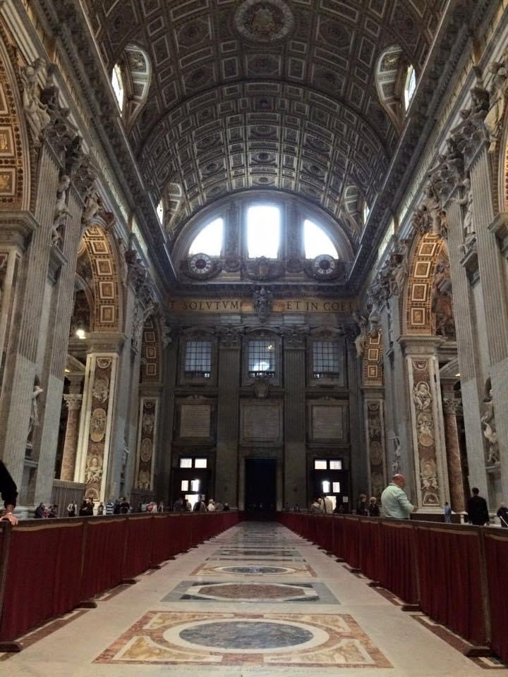 The Basilica at St Peters Rome