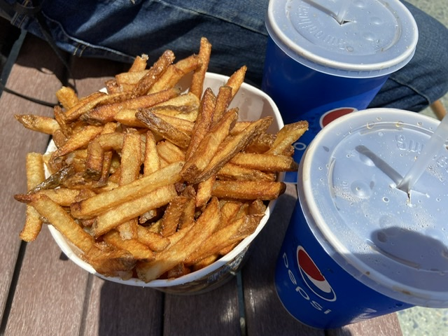 Top beach pick Trasher's Fries. Eatbaketravel.com