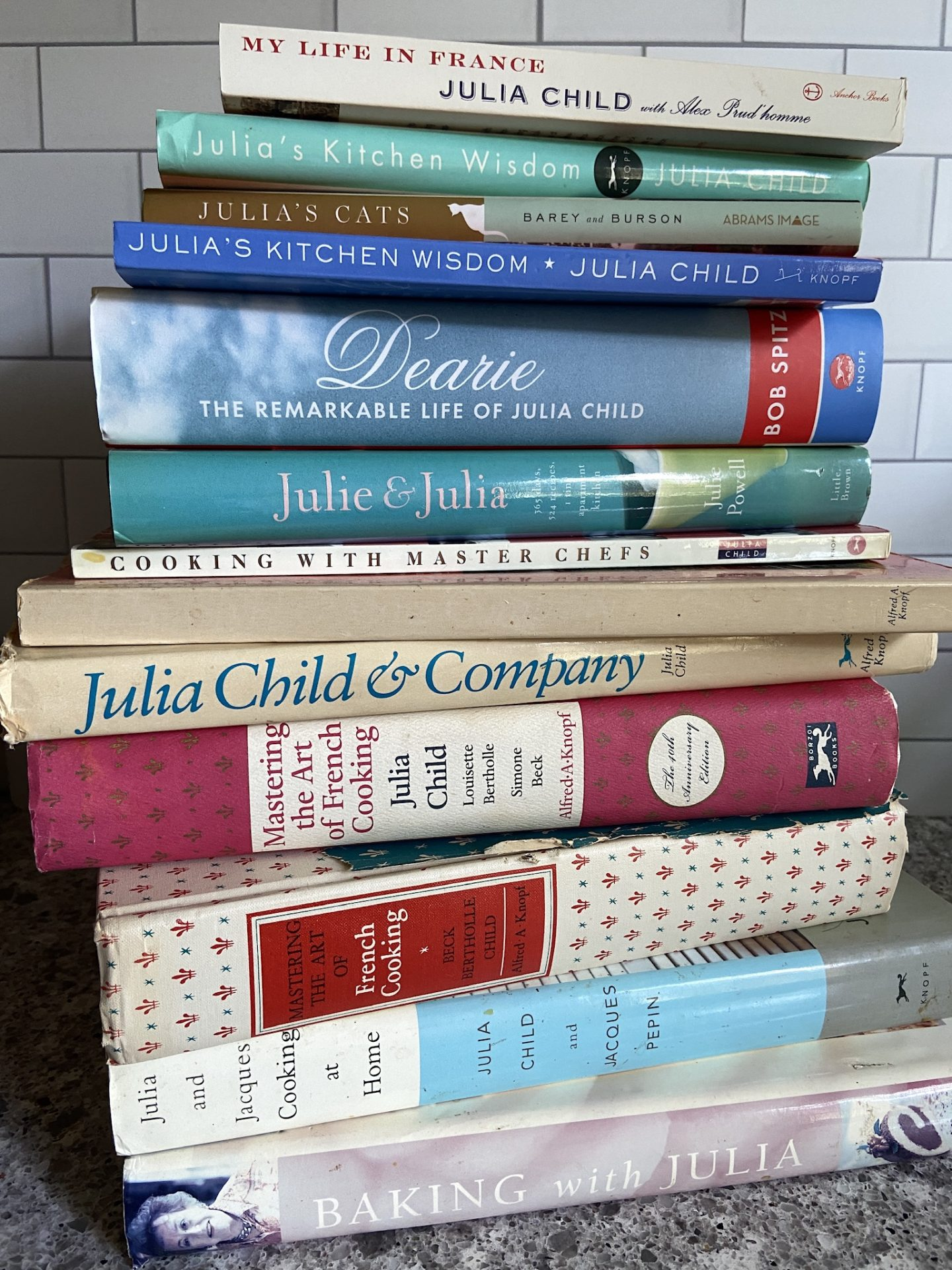 My Julia Child book collection